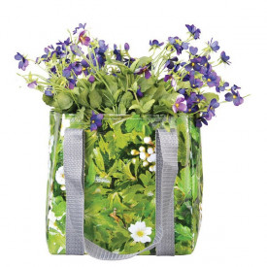 Suport de flori, verde, tip geanta, 20x20 cm
