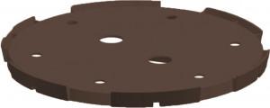 Suport de plastic pentru interiorul ghiveciului, negru, 28 cm