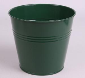 Vas de metal, verde, 6 cm