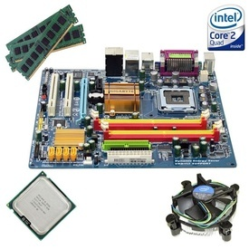 Kit Placa de baza Gigabyte GA-EG31MF-S2 + Intel Core 2 Quad Q9505 2.83GHz + 4GB DDR2 + Cooler