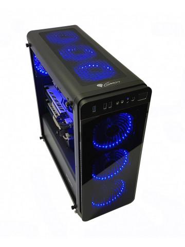 Calculator Gaming AMD Ryzen 5 2600, 16GB DDR4, NVME M2 256GB + SSD 480GB + 1TB HDD, video 2 placi Sapphire Radeon RX 570 NITRO+ 4GB GDDR5 256-bit, CrossFire