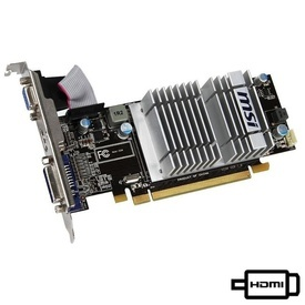 Placa video MSI Radeon HD5450, 1GB DDR3, 64-bit, VGA, DVI, HDMI Silent