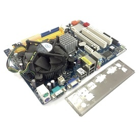 Kit Intel Xeon Dual Core E3120 3.16GHz + Placa de baza ASRock G31M-S + Cooler