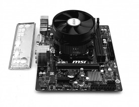 Kit MSI H81M-P33 + Intel Haswell core i3 4170 + cooler