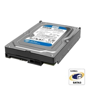 Hard Disk 500GB Western Digital Blue, 7200RPM, SATA3, 16MB, WD5000AAKX