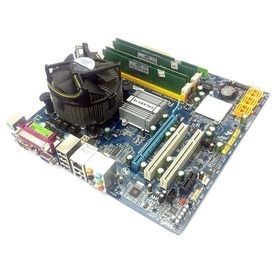 KIT Placa de baza GIGABYTE GA-Q35M-S2 + Intel Core 2 Quad Q6600 2.4GHz + 4GB DDR2