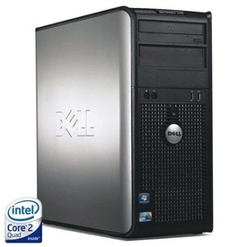 Calculator Dell Optiplex 745 MT, Intel Core 2 Quad Q6600 2.4GHz, 4GB DDR2, 2 x 160GB, DVD-RW