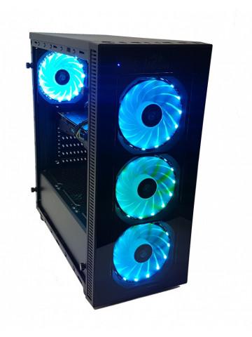 Calculator Gaming Intel Coffee Lake Core i5 9400F, 16GB DDR4, SSD M2 256GB + SSD 480GB + 1TB HDD, video GIGABYTE GeForce GTX 1070 G1 GAMING 8GB GDDR5 256-bit, RGB