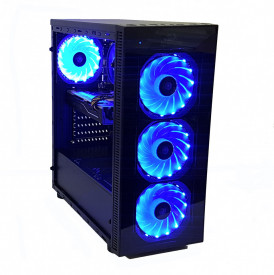 Calculator Gaming Intel Skylake Core i5 6500, 16GB DDR4, SSD 240GB + 1TB HDD, video Sapphire Radeon RX 570 PULSE 8GB GDDR5 256-bit, RGB telecomanda