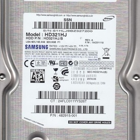 Hard disk Samsung 320GB, 7200RPM Cache 8MB SATA2 HD321HJ