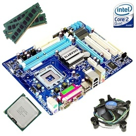 Kit Placa de baza Gigabyte GA-G41M-ES2L + Intel Core 2 Quad Q9505 2.83GHz + 4GB DDR2 + Cooler