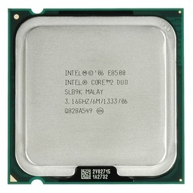 Procesor Intel Core 2 Duo E8500 3.16GHz, Cache 6MB, Socket LGA775, FSB 1333MHz