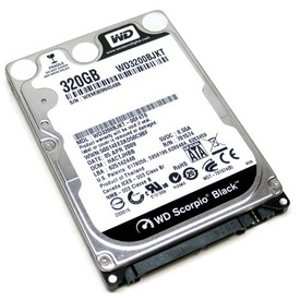 Hard disk laptop 320GB SATA2, Western Digital Scorpio Black WD3200BEKT, 7200rpm