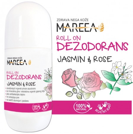 Slika PRIRODNI DEZODORANS ROLL ON JASMIN & RUŽA 50 ml