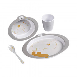 Done by Deer Tableware Happy Dots Grey/Gold