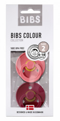 BIBS Colour 2 PACK Coral / Ruby