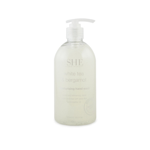 Sapun lichid de maini Om She Aromatherapy White Tea & Bergamot Hand Wash, 500 ml imagine produs