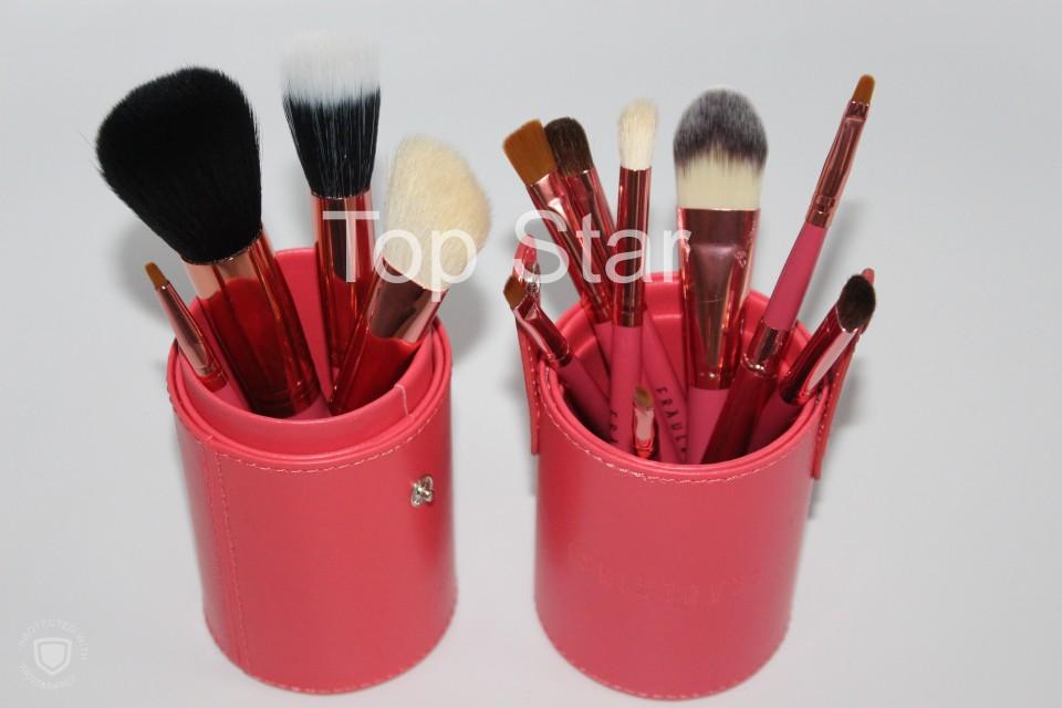 Set 12 pensule make up Fraulein pink + butoias depozitare
