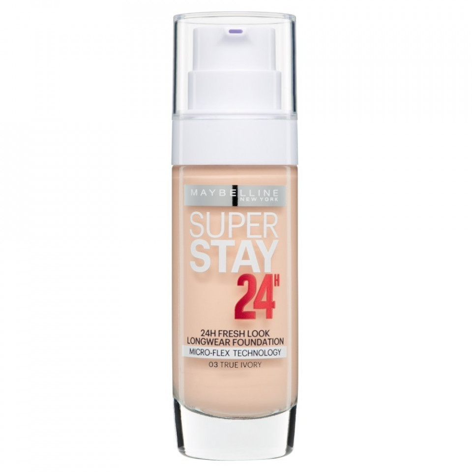 Fond de ten rezistent Maybelline Superstay 24 H, 03 True Ivory imagine produs