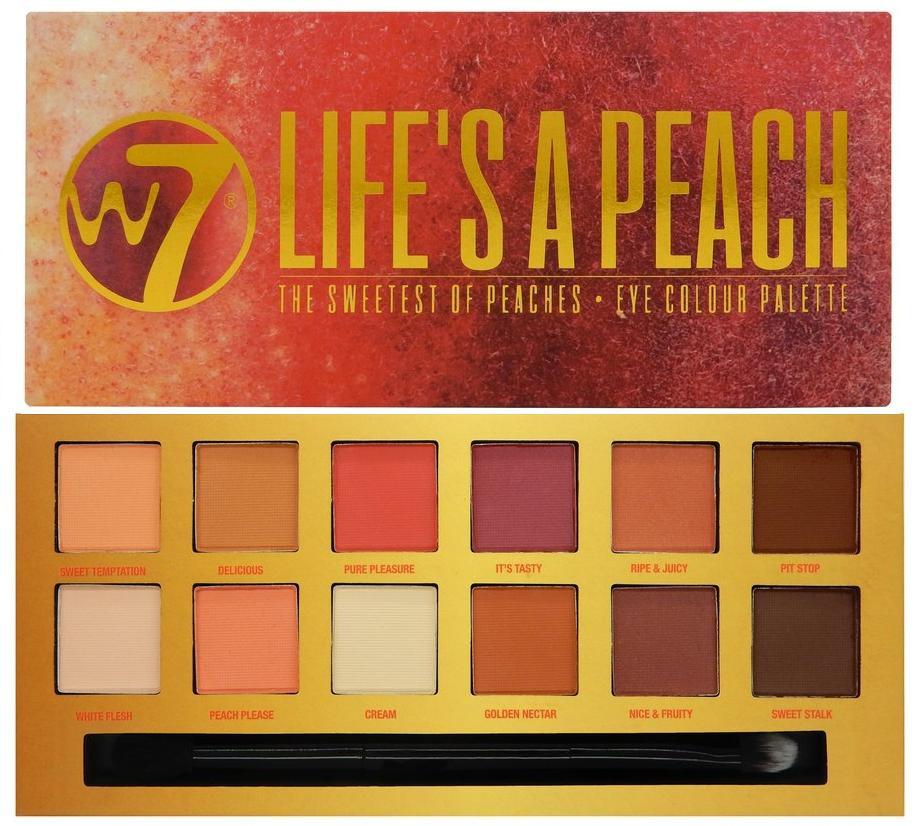 Paleta farduri de pleoape mate W7 Life`s A Peach, 14 culori imagine produs