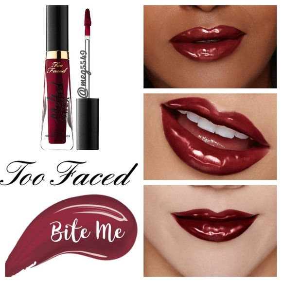 Ruj de buze lichid Too Faced Melted Latex Nuanta Bite Me