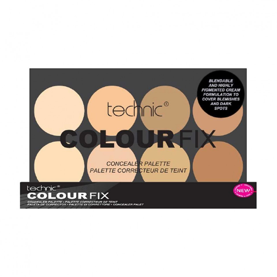 Paleta 8 corectoare Technic Colour Fix Concealer Palette Light
