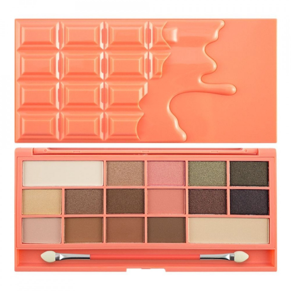 Paleta farduri de ochi Makeup Revolution I Heart Makeup Chocolate and Peaches