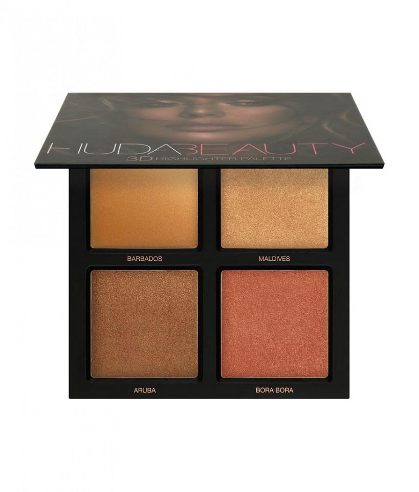 Paleta iluminatoare Huda Beauty 3D Highlighter Palette Bronze Sands Edition