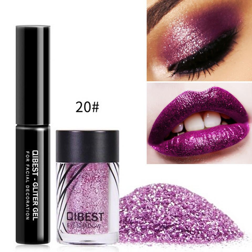 Glitter ochi + adeziv Glitter Gel Eyeshadow 20 Mauve Pearl imagine produs