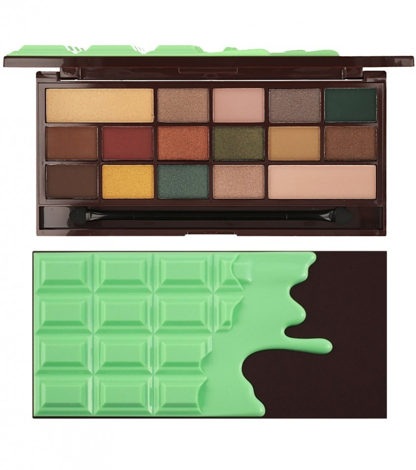 Paleta de farduri Makeup Revolution I Heart Makeup Palette Chocolate Mint