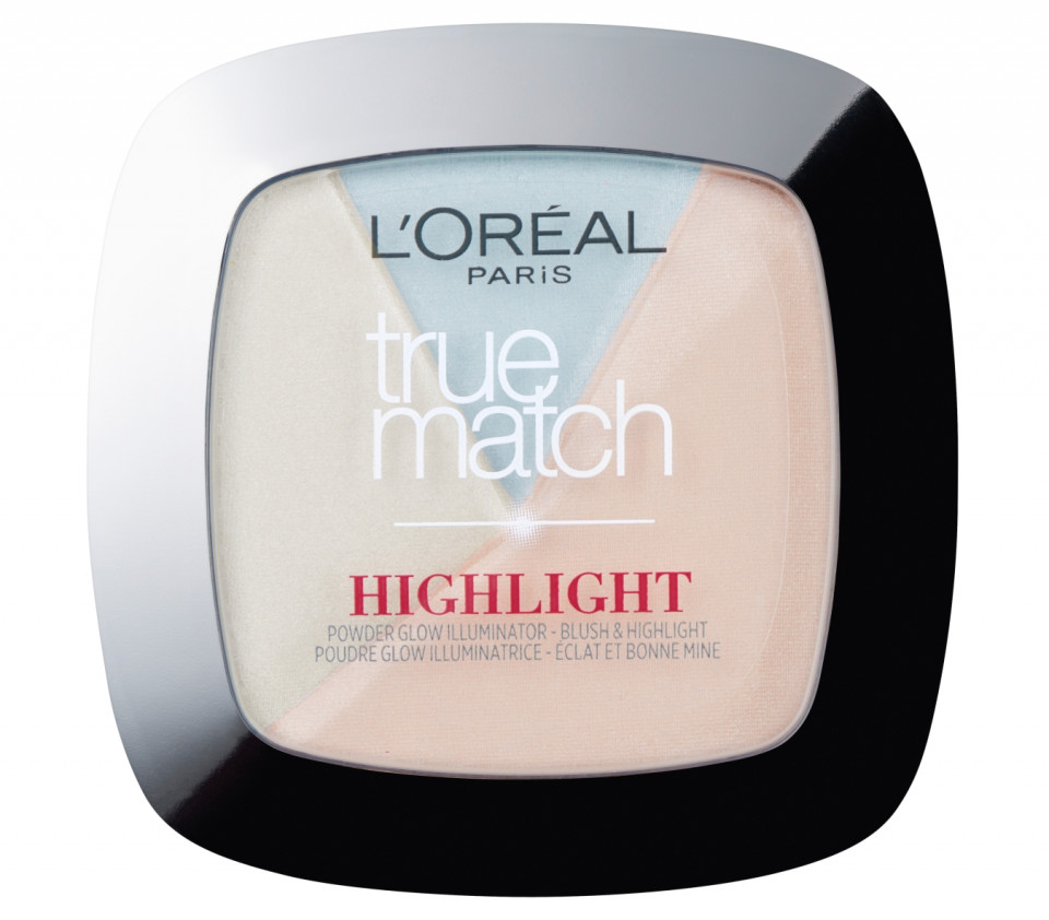Pudra iluminatoare 3 in 1 Loreal True Match Highlight