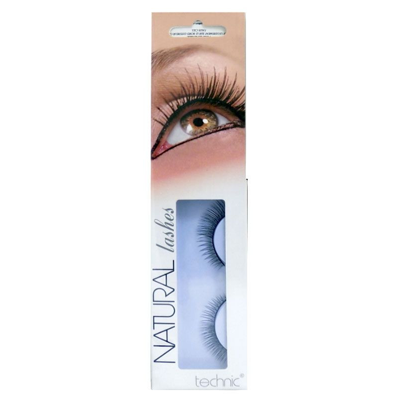 Gene false cu aspect natural Technic Natural Lashes, adeziv inclus imagine produs