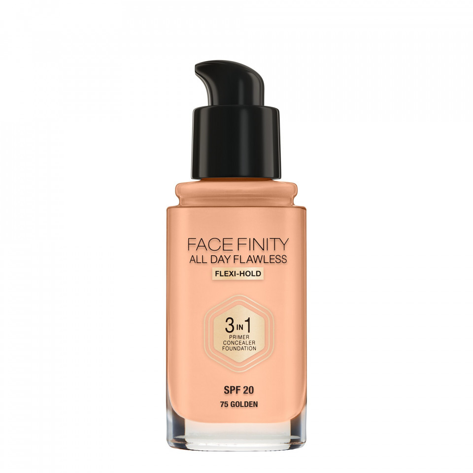 Fond de ten Max Factor Facefinity All Day 3 in1 Nuanta 75 Golden