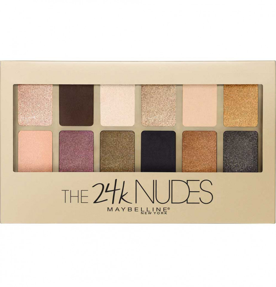 Paleta farduri de ochi Maybelline New York The 24 Karat Nudes Eyeshadow imagine produs