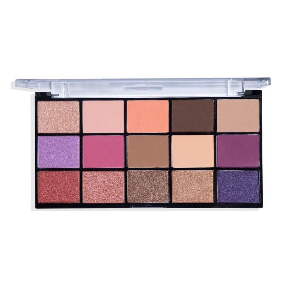 Paleta farduri de pleoape Technic Persian Violet, 15 culori imagine produs