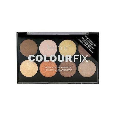 Paleta 8 pudre iluminatoare Technic Colour Fix Highlighter Palette