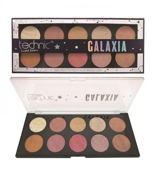Paleta pudre iluminatoare Technic Galaxia Face Palette Limited Edition