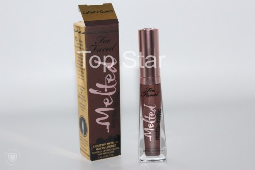 Ruj de buze lichid Too Faced Melted Matte-tallic Nuanta Caffeine Queen