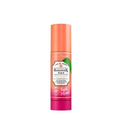 Baza de Machiaj Spray Too Faced Hangover 3 in 1 Peach Extract