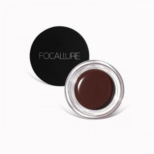 Gel sprancene Brows Cream Focallure 03 Dark Brown, Pensula inclusa