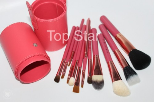 Set 12 pensule make up Fraulein pink + butoias depozitare