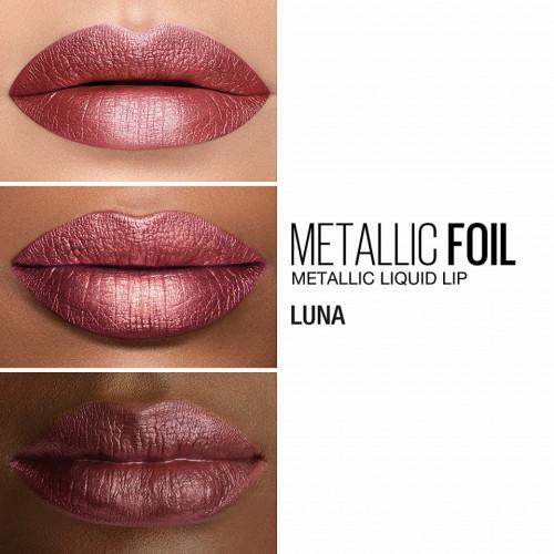 Set ruj de buze si creion contur Maybelline Metallic Lip Kit Mythical