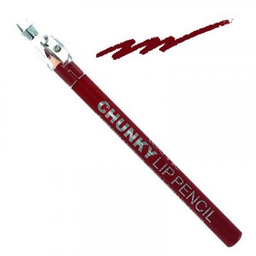 Creion de buze Technic Chunky cu ascutitoare, Red Velvet