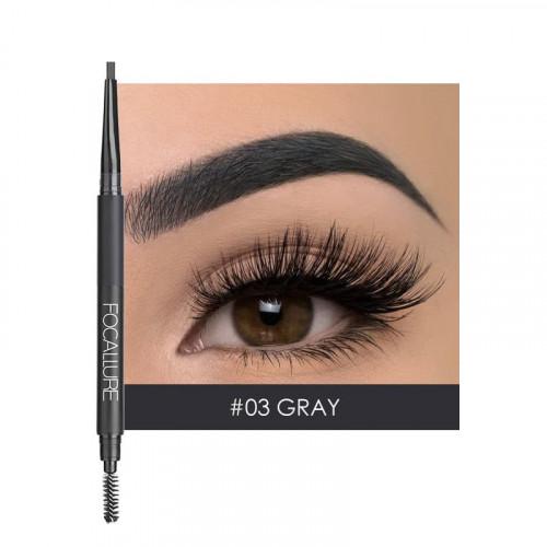 Creion sprancene + fard sprancene Focallure, 03 Gray