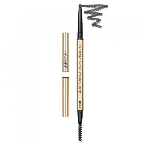 Creion sprancene retractabil Ucanbe Ultra Point Micro Eyebrow Pencil, Nuanta Soft Black