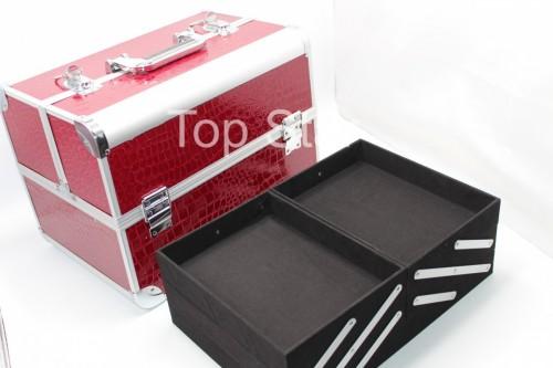 Geanta cosmetice depozitare Culoare:rosu-burgundy Model spatios
