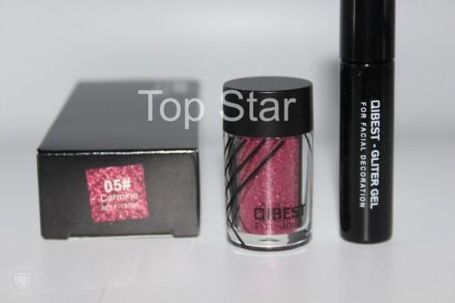 Glitter ochi + adeziv Glitter Gel Eyeshadow 05 Carmine