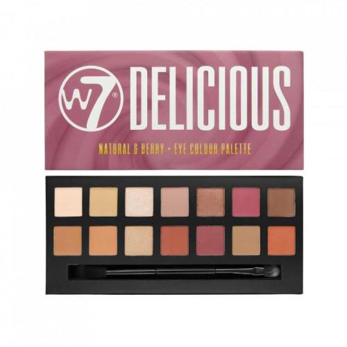 Paleta farduri de pleoape W7 Delicious Natural Berry , 14 culori