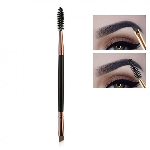Pensula sprancene cu 2 capete eyebrow brush