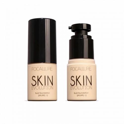 Fond de ten fluid Focallure Skin Evolution SPF15, 01 Alabaster